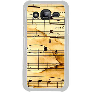 ifasho Animated Pattern design black and white music symbols and lines Back Case Cover for Samsung Galaxy J2