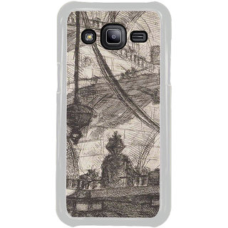 ifasho Modern art painting of city Building  Back Case Cover for Samsung Galaxy J2