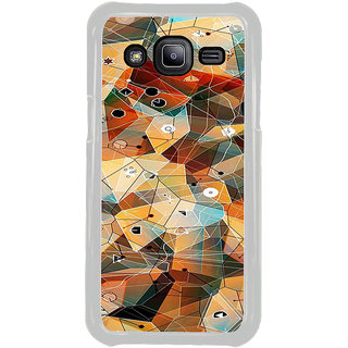ifasho Modern Theme of royal design in colorful pattern Back Case Cover for Samsung Galaxy J2