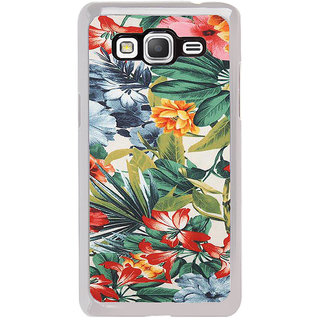 ifasho Animated Pattern colrful flower with leaves Back Case Cover for Samsung Galaxy Grand Prime