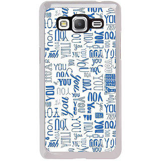 ifasho You letter pattern Back Case Cover for Samsung Galaxy Grand Prime