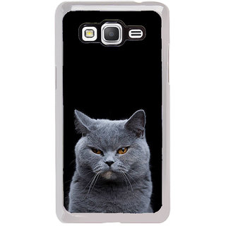 ifasho black Cat Back Case Cover for Samsung Galaxy Grand Prime