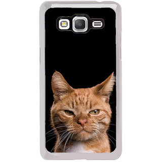 ifasho Brown cat Back Case Cover for Samsung Galaxy Grand Prime