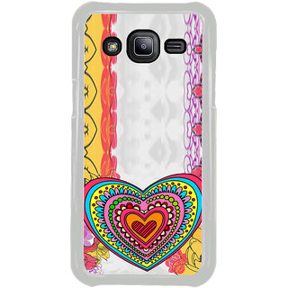 ifasho Modern Art Design Pattern with Heart and design colorful Back Case Cover for Samsung Galaxy J2