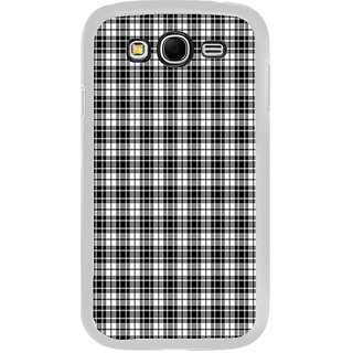 ifasho Modern Theme of black and white Squre lines Back Case Cover for Samsung Galaxy Grand