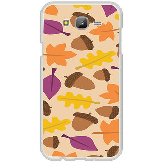 ifasho Animated Pattern colrful design leaves and nuts Back Case Cover for Samsung Galaxy J7 (2016)