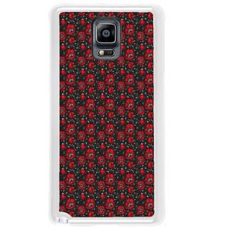 ifasho Animated Pattern small red rose flower with black background Back Case Cover for Samsung Galaxy Note 3