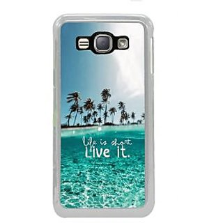 ifasho life is short live it Back Case Cover for Samsung Galaxy J1 (2016 Edition)
