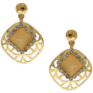 Anuradha Art Square Shape Desinger Classy Look With Stone Beautiful Earrings For Women