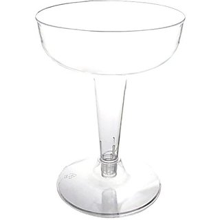 Party Essentials CHAMP4-10/40 Hard Plastic 2-Piece Champagne Glass, 4-Ounce Capacity, Clear (Case of 400)