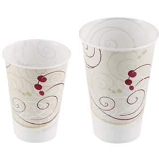 SOLO R7N-J8000 Symphony Design Wax Coated Treated Paper Cold Cup, 7 oz. (20 Packs of 100)
