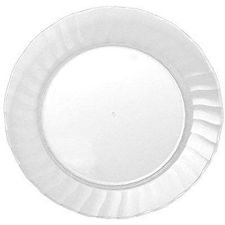 Classicware Rigid Plastic Round Plate, 10.25-Inch, Clear (144-Count)
