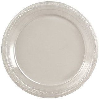 Creative Converting 28-114131 Plastic Banquet Plate, 10.25