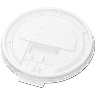 Boardwalk 10-20TABLID Hot Cup Tear-Tab Lids, 10-20oz, White (10 Sleeves of 100)
