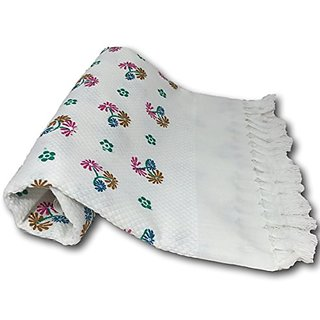 Best Thin Bath Travel Yoga Hair Dry Towel Peshtemal - Floral Prints -Super Absorbent,Quick Drying. Best towel for Hair T
