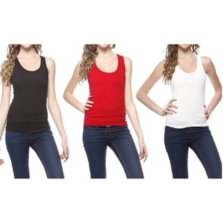 RamE  red,black and white  Women cotton Lingerie Stretchy Slips Camisole .Inner for ladies,girls Condition