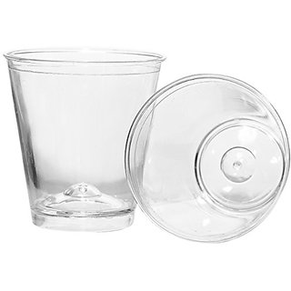 Jobena Bar Essentials 5008 Disposable Shot Glass,Polystyrene, 0.8 oz, Clear (Pack of 50)