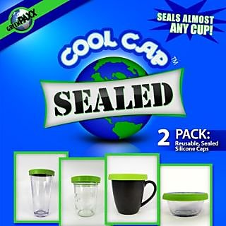 GreenPaxx Cool CapTM Universal Cup Lids, 2-pack, in Sealed Blue