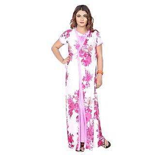 79ba643780 Buy Be You Fashion Women s Satin 2 Piece Nighty Set (Light Purple ...