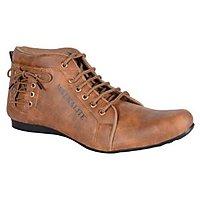 Admire Men Tan Lace-up Casual Shoes