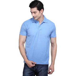 X-Cross Men'S Blue Polo Collar T-Shirt