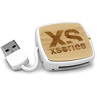 XSories X-Hub Memory Card Reader (Bamboo)