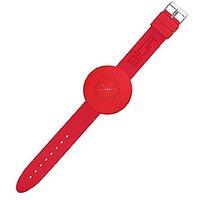 BiGR Audio XLWB02 WRiSTBOOM Wearable Wireless Bluetooth Speaker With Built-In Mic, Red