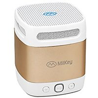 MiiBox Mini Gold Bluetooth ,NFC Speaker With Microphone,Built-in Music Player & HD Audio