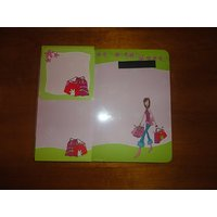 Mouse Pad Gift Set~Girl With Shopping Bag: Mouse Pad, Notepad, List Pad And Drink Coaster