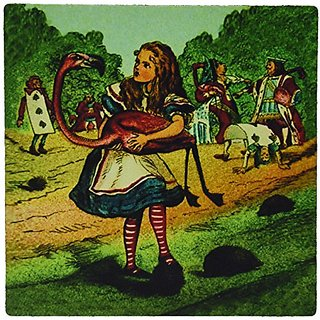 3dRose LLC 8 X 8 X 0.25 Inches Alice in Wonderland Golfing Mouse Pad (mp_27556_1)