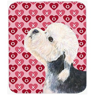 Carolines Treasures Mouse/Hot Pad/Trivet, Dandie Dinmont Terrier Hearts Love Valentines Day (SS4503MP)