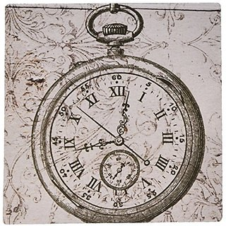 3dRose LLC 8 x 8 x 0.25 Inches Mouse Pad, Vintage Stop Watch Steampunk Art (mp_110249_1)