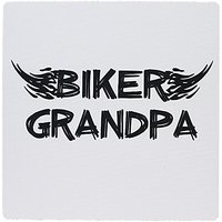 3dRose Biker Grandpa. Grunge Word Art With Black And White Flames - Mouse Pad, 8 By 8 Inches (mp_162547_1)