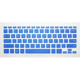 HYAIT 1Pcs Colorful Silicone Keyboard Protector Skin Cover for DELL Inspiron 14HR 7000 7437 SEMI-BLUE