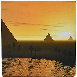 3dRose LLC 8 x 8 x 0.25 Inches The Giza Necropolis Sun Rises Over the Desert Sands Near Egyptian Pyramids at Giza Mouse