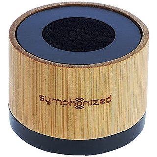 Symphonized NXT Premium Genuine One Piece Solid Hand Carved Bamboo Wood Bluetooth Portable Speaker. Compatible with All