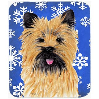 Carolines Treasures Mouse/Hot Pad/Trivet, Cairn Terrier Winter Snowflakes Holiday (SC9375MP)