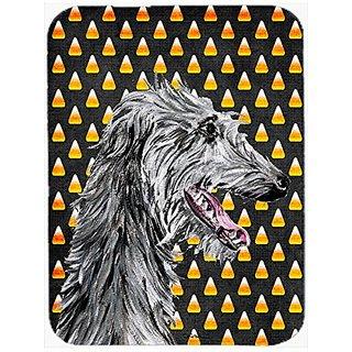 Carolines Treasures Scottish Deerhound Candy Corn Halloween Mouse Pad/Hot Pad/Trivet (SC9669MP)