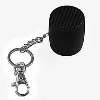 MixBin Portable Bluetooth Speaker With Keychain & Phone Loudspeaker (Black)