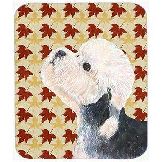 Carolines Treasures Mouse/Hot Pad/Trivet, Dandie Dinmont Terrier Fall Leaves Portrait (SS4353MP)