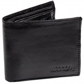 CAY Stylish  Trendy Black Bifold  Leather Wallets  For Men
