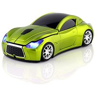 CHUYI Wireless Sport Car Mouse Optical Mouse Mice Ergonomic Design For Computer Laptop Green