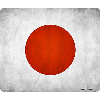 Japan Grunge Flag Thick Mouse Pad