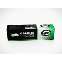 "CushionCare Regular Size Black Gaming Mouse Mat Pad - Comes With Complementary Gaming Mouse - 7.9"" X 9.7"" X 0.12"" - Soft"