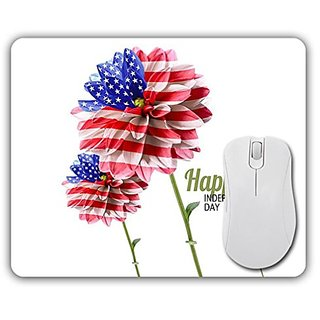 Independence Day fourth of July mousepad American Flower Flag Mouse Pad.ToyMP:175