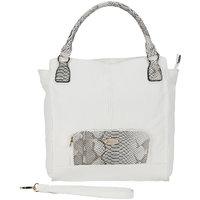Gussaci White  Grey Leatherette Casual Shoulder Bag