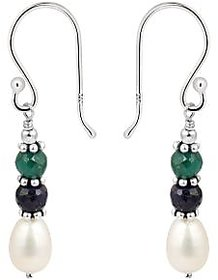 925 Silver based Fresh Water Pearl Earrings an Forever Symbol of Pearlz Ocean.