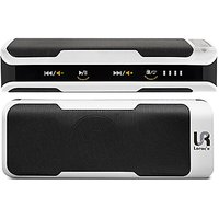Portable Bluetooth Speaker + POWER BANK + Radio And Microphone ALL IN ONE! Including Line In And SD-Card Slot (White)