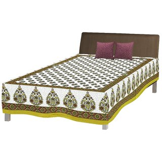 Jaipuri Single Cotton Bed Sheet Bed Spread Srb2057