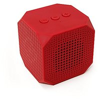 MQbix MQBK3010RED MUSICUBE Wireless Portable Bluetooth Speaker With Built-in Mic For Bluetooth Enabled Devices (Red)